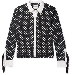 TAKAHIROMIYASHITA TheSoloist. Slim-Fit Fringed Polka-Dot Cotton and Silk-Blend Shirt