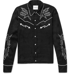 TAKAHIROMIYASHITA TheSoloist. Slim-Fit Embroidered Satin Western Shirt