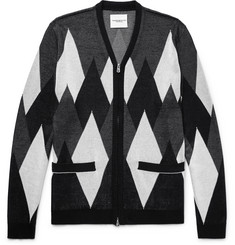 TAKAHIROMIYASHITA TheSoloist. Slim-Fit Argyle Silk Zip-Up Cardigan