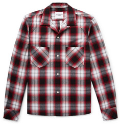 TAKAHIROMIYASHITA TheSoloist. Camp-Collar Checked Cotton-Blend Flannel Shirt