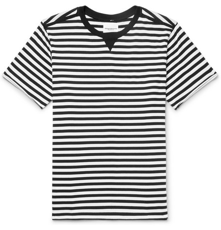 TAKAHIROMIYASHITA THE SOLOIST Striped Cotton-Jersey T-Shirt