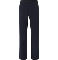 Oliver Spencer - Stretch-Cotton Seersucker Drawstring Trousers