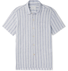 Oliver Spencer - Striped Organic Cotton and Linen-Blend Shirt
