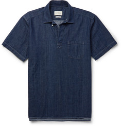 Oliver Spencer Yarmouth Denim Half-Placket Shirt