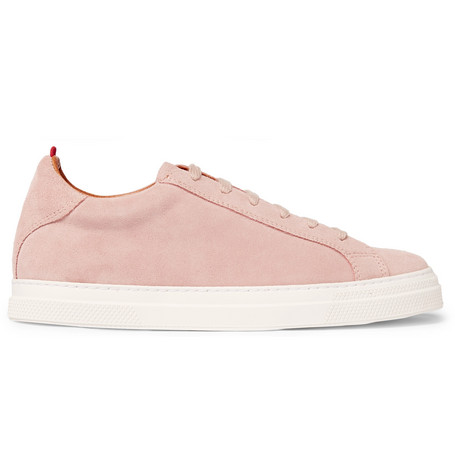 Oliver Spencer Ambleside Suede Sneakers In Pink