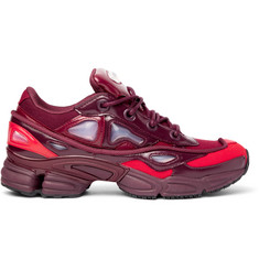 Raf Simons + adidas Originals Ozweego III Canvas and Faux Leather Sneakers