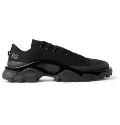 Raf Simons + adidas Originals Detroit Canvas, Rubber and Mesh Sneakers