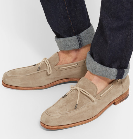 Byrne Suede Loafers - ChocolateJohn Lobb