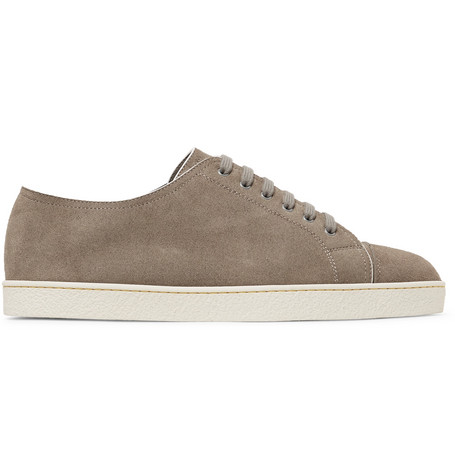 Réduction En France Livraison Rapide En Ligne Levah Cap-toe Leather And Suede Sneakers - Light brownJohn Lobb Footlocker Pas Cher En Ligne Finishline faux eLuRVY