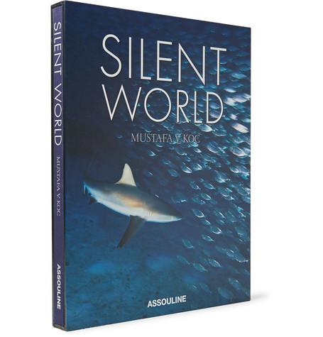 Assouline Silent World Hardcover Book In Blue