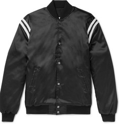 Rhude Appliquéd Satin Bomber Jacket