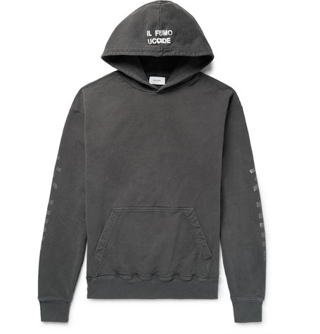 Rhacer Oversized Printed Loopback Cotton Jersey Hoodie by Rhude