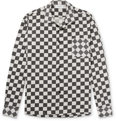 Rhude Rhally Camp-Collar Printed Cotton Shirt
