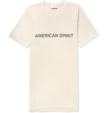 Oversized Printed Brushed Cotton Jersey T Shirt by Rhude