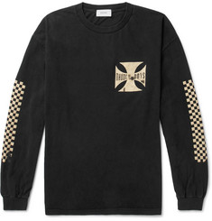 Rhude Rhude Boys Oversized Printed Washed Cotton-Jersey T-Shirt