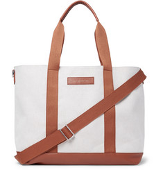 WANT LES ESSENTIELS Marti Leather-Trimmed Canvas Tote Bag