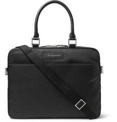 WANT LES ESSENTIELS - Haneda Leather-Trimmed Nylon Briefcase