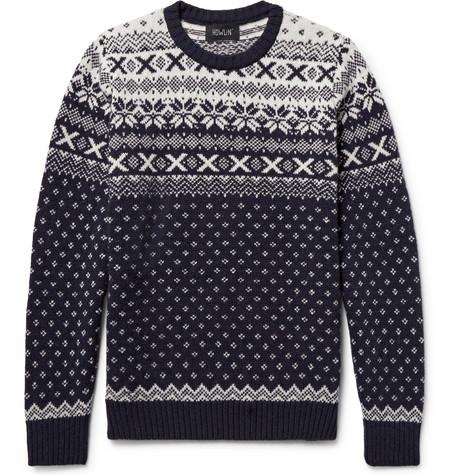 Howlin' - Mr Lawrence Fair Isle Wool Sweater
