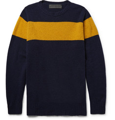 The Elder Statesman Striped Intarsia Cashmere Sweater