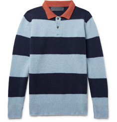 The Elder Statesman - Slim-Fit Striped Cashmere Sweater