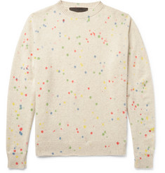The Elder Statesman Printed Cashmere Sweater