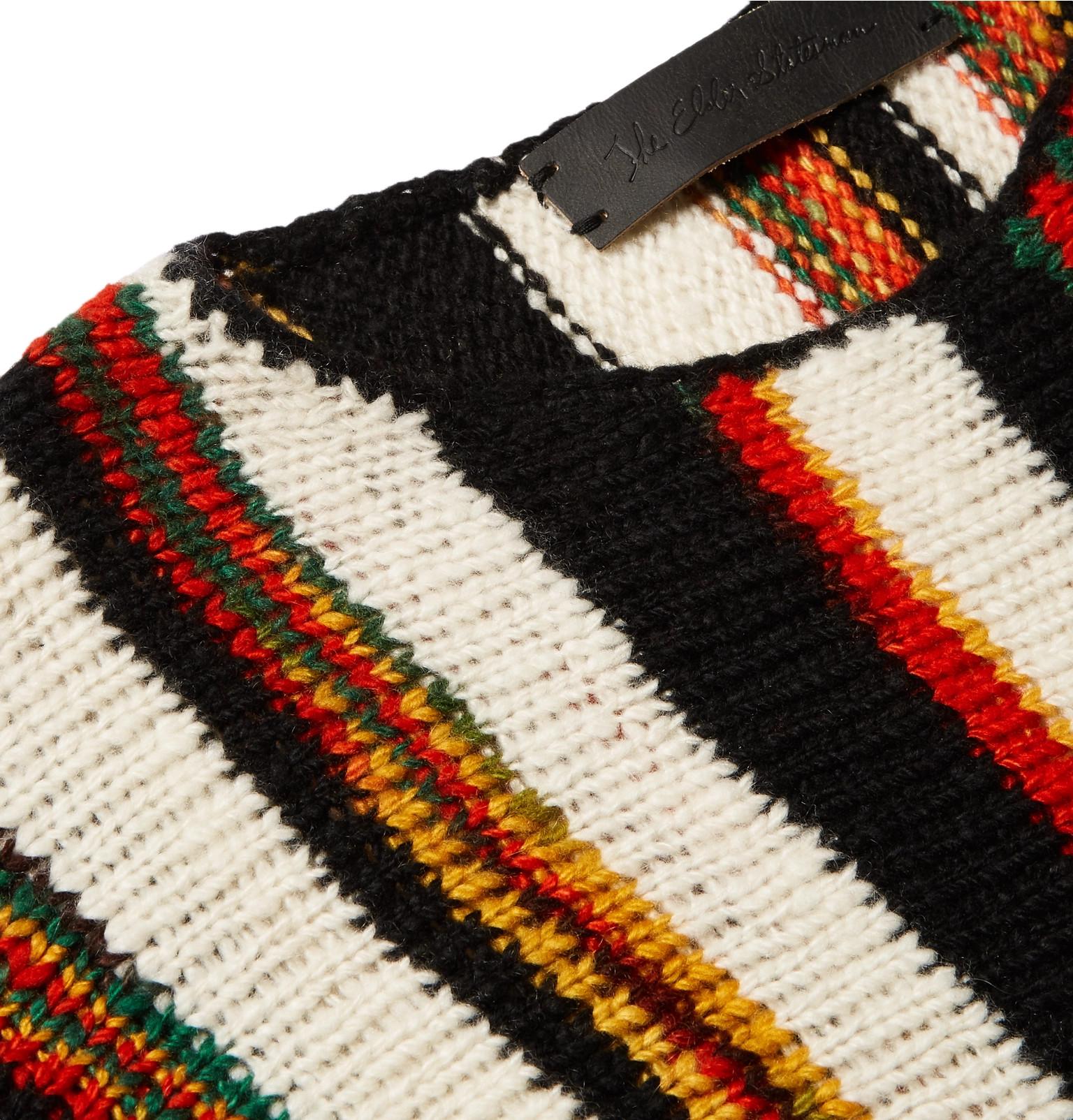 aab56ef9fc92b4 The Elder Statesman - Rola Rasta Striped Cashmere Sweater