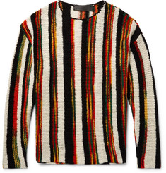 The Elder Statesman Rola Rasta Striped Cashmere Sweater