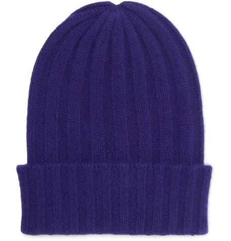 rib knit beanie - Blue The Elder Statesman 1TkWP