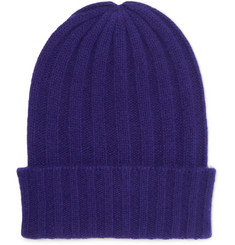 The Elder Statesman - Short Bunny Echo Ribbed Cashmere Beanie