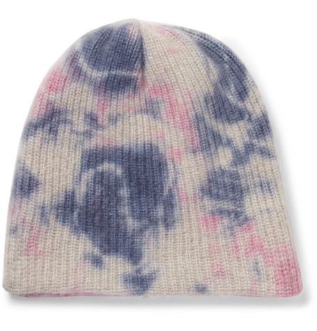 Watchman Tie-dyed Ribbed Cashmere Beanie The Elder Statesman fCwKP
