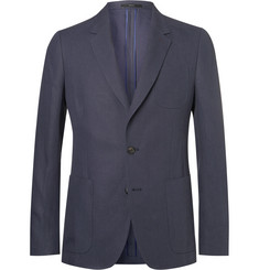 Paul Smith Navy Soho Slim-Fit Linen Blazer