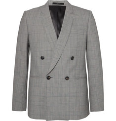 Paul Smith - Grey Double-Breasted Prince of Wales Checked Wool Suit Jacket