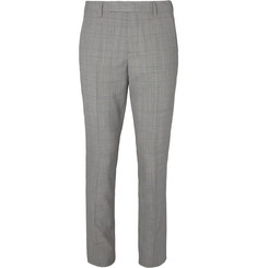 Paul Smith Grey Prince of Wales Checked Wool Suit Trousers
