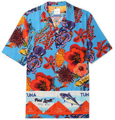 Paul Smith Camp-Collar Printed Voile Shirt