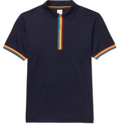 Paul Smith Stripe-Tipped Cotton-Piqué Polo Shirt