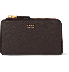 TOM FORD Full-Grain Leather Zipped Cardholder