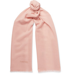 TOM FORD Fringed Cashmere and Silk-Blend Scarf
