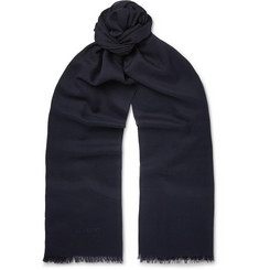 TOM FORD - Fringed Cashmere and Silk-Blend Scarf
