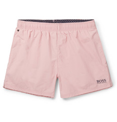 Hugo Boss - Short-Length Embroidered Shell Swim Shorts