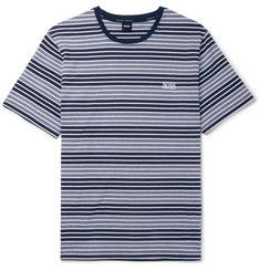 Hugo Boss Striped Stretch-Cotton Jersey T-Shirt
