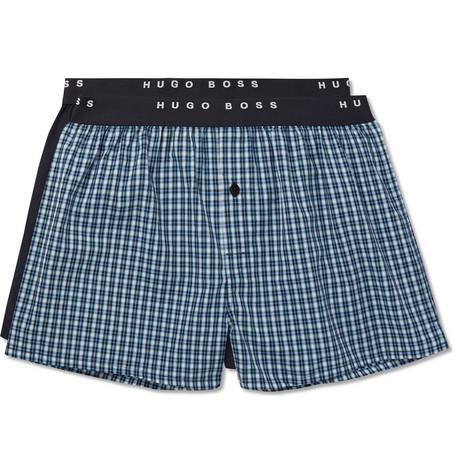 Vente Abordable HUGO BOSS Two-pack Cotton Boxer Shorts - Navy Recommander À Vendre Payer Avec Paypal À Vendre Faire Acheter Pas Cher En Ligne iuwG6N