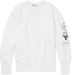 Y-3 Oversized Printed Cotton-Jersey Sweatshirt