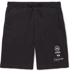 Y-3 - Printed Cotton-Jersey Shorts
