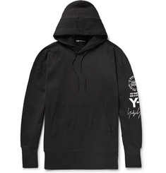 Y-3 Oversized Printed Loopback Cotton-Jersey Hoodie