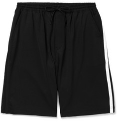 Y-3 Striped Cotton-Blend Jersey Shorts
