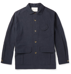 Studio Nicholson Washed Cotton and Linen-Blend Jacket