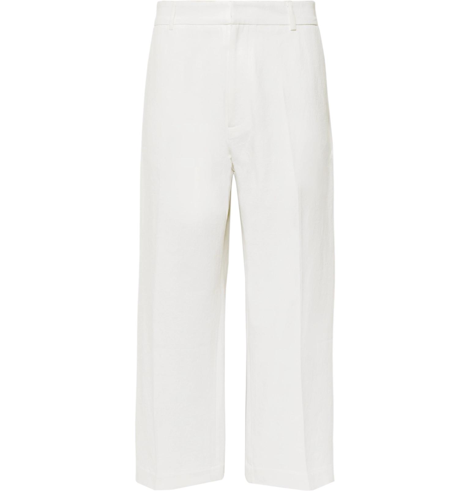 Suedehead Wide-leg Cropped Brushed Cotton-twill Trousers STUDIO NICHOLSON B9jSDmR