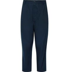 Studio Nicholson buzzard Wide-Leg Cropped Pleated Cotton Trousers