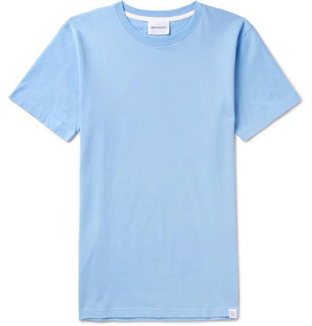 Niels Cotton-jersey T-shirt - Blue
