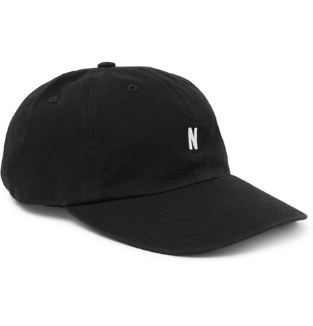 Embroidered Cotton-twill Baseball Cap - Black